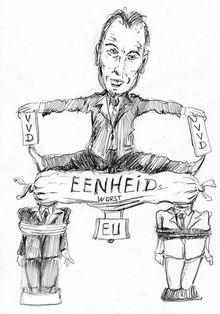 Halbe Zijlstra VVD cartoon.