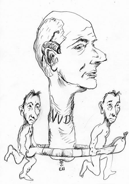 Stef Blok VVD cartoon