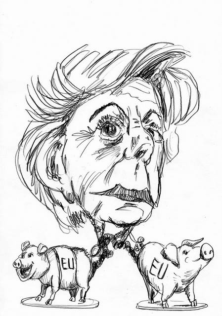Neelie Smit Kroes cartoon