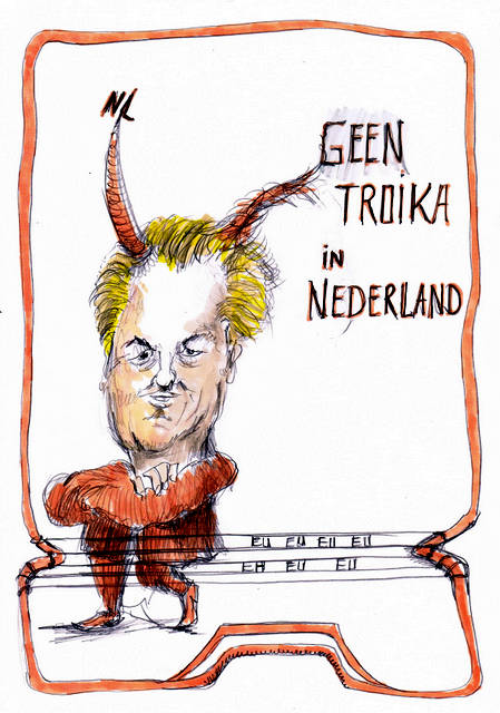 Geert Wilders cartoon Brussel karikatuur portret