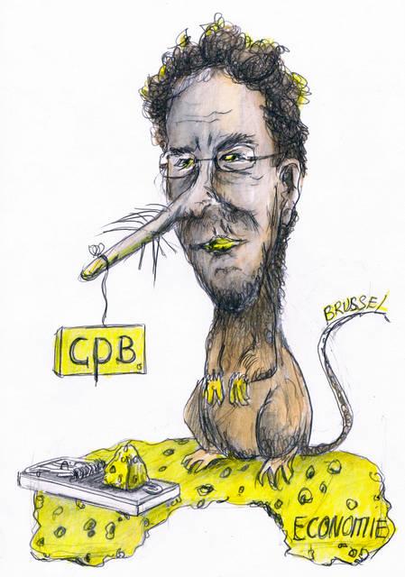Jeroen Dijsselbloem karikatuur.