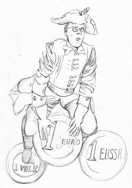 Mark Rutte cartoon